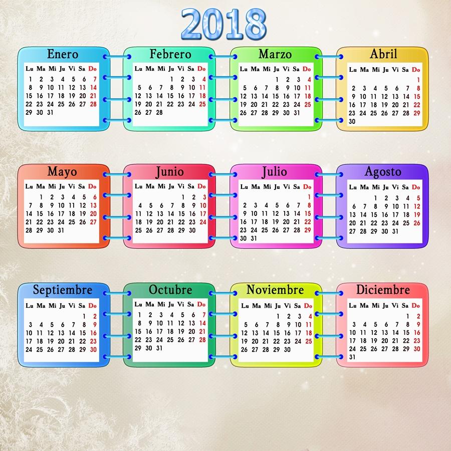 Recursos Photoshop Llanpac: Plantilla base para calendarios del 2018 ...