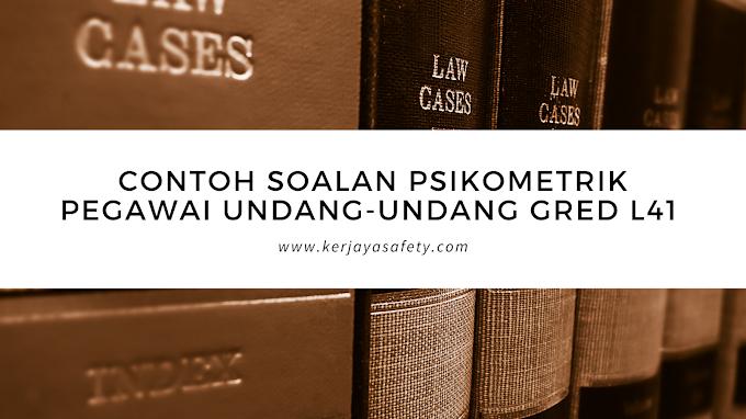Contoh Soalan Psikometrik Pegawai Undang-Undang L41