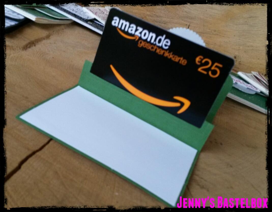 Amazon Gutschein Karte.Jennys Bastelbox Gutscheinkarte