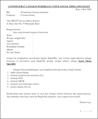Contoh Surat Lamaran Pekerjaan Untuk Layanan Sosial dan Nonprofit