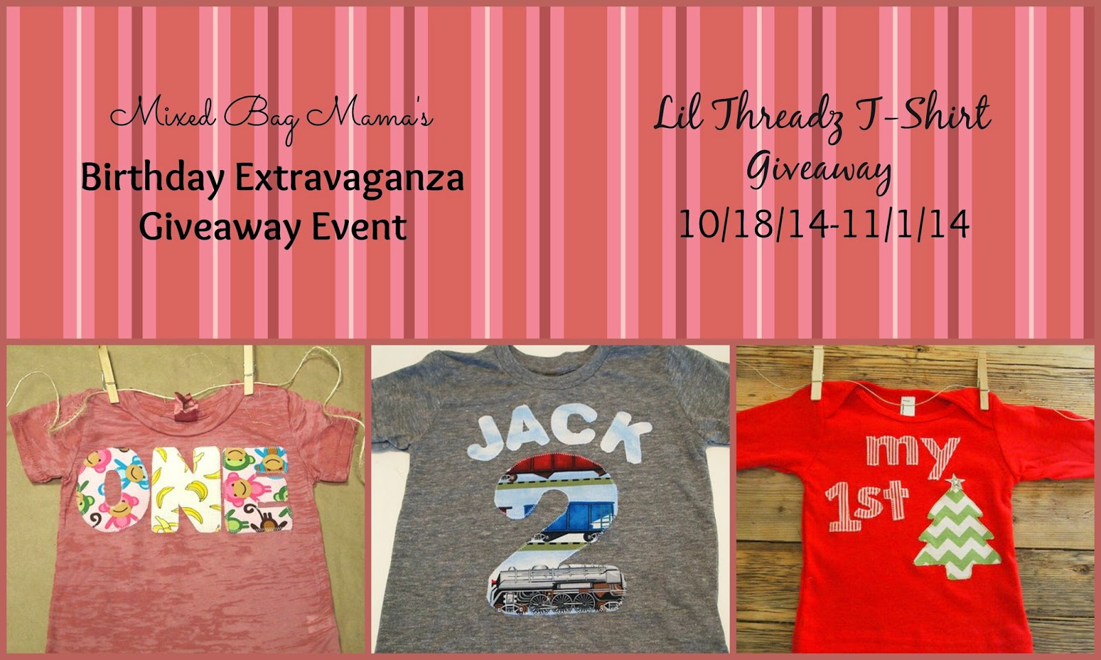 Enter the Lil Threadz T-Shirt Giveaway. Ends 11/1.