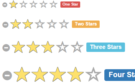 Bootstrap Star Rating jQuery Plugin Using Css - Top jQuery
