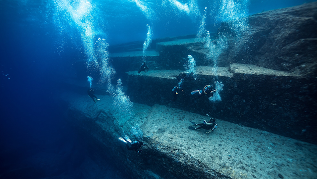 The Yonaguni Monument underwater pyramic structure