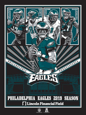 Philadelphia Eagles 2019 Season NFL Screen Print by M.Fitz x Phenom Gallery