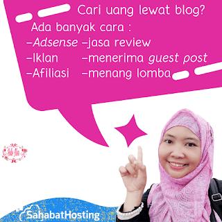 cara cari uang lewat blog