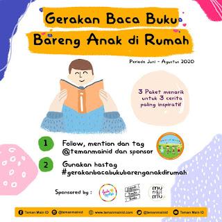 Gerakan Baca Buku Bareng Anak di Rumah