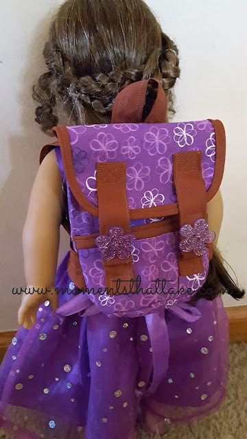 18 inch doll backpack pattern