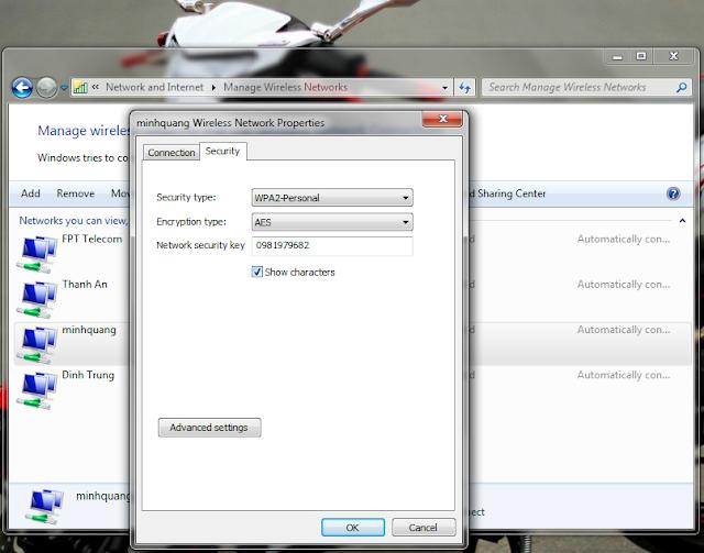 lắp mạng fpt - xem lại mật khẩu wifi