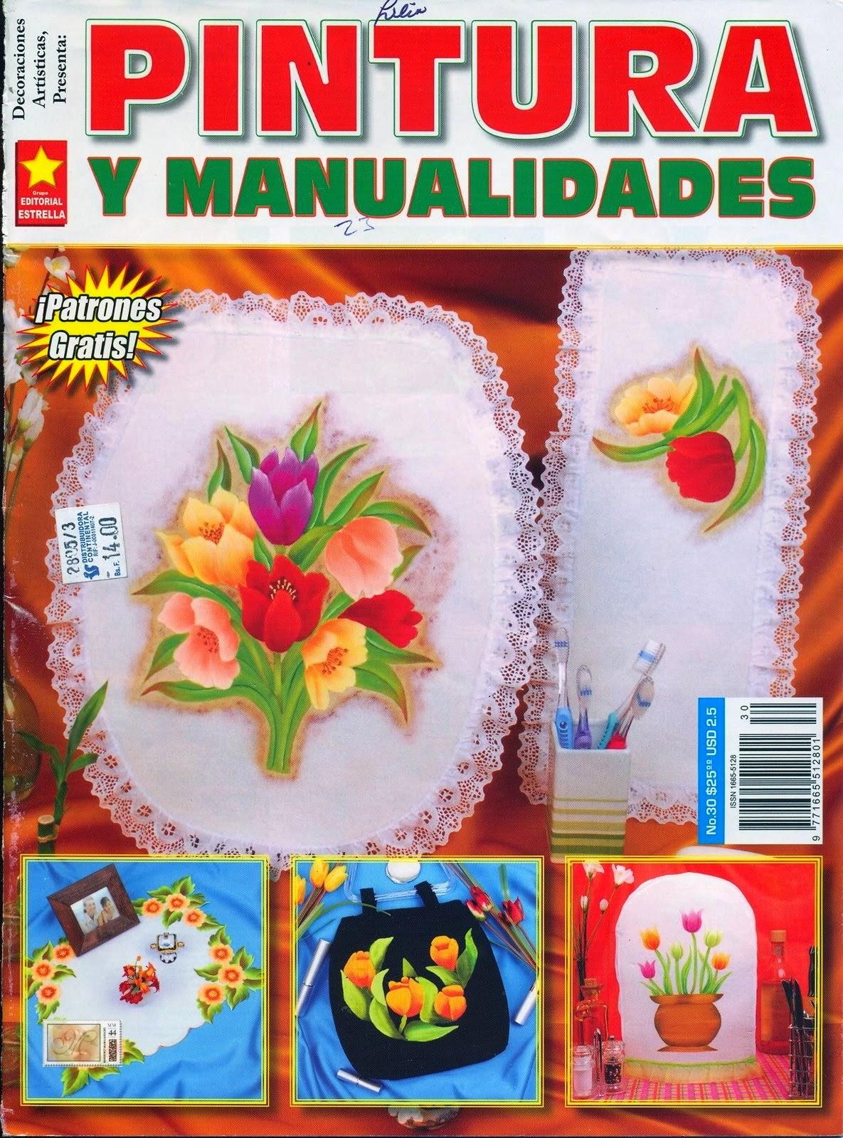 Como pintar flores en tela revista gratis  Cursos y