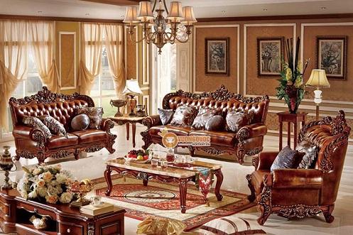 Gợi ý 4 mẫu sofa phòng khách tân cổ điển cho biệt thự sang trọng