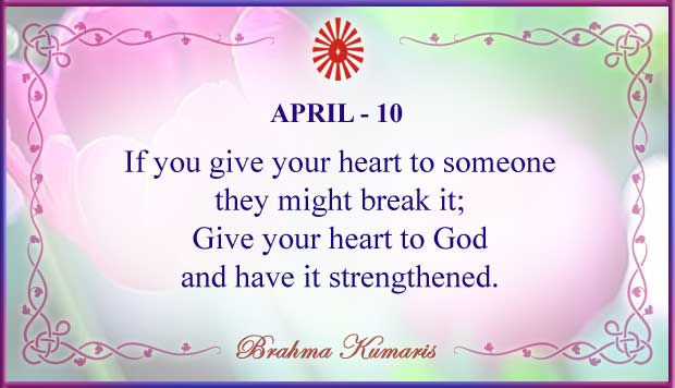 Thought For The Day April 10