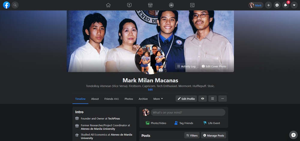 New Facebook, Facebook Dark Mode