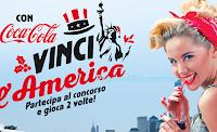 Logo Concorso ''Vinci con America Graffiti'': gadget, valige Coca-Cola e viaggio in USA