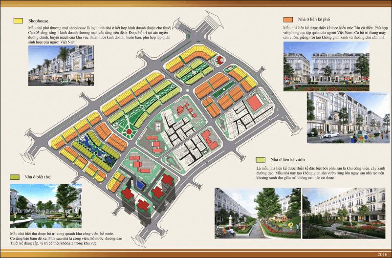 Thiết kế quy hoạch tổng thể dự án liền kề Louis City Đại Mỗ.