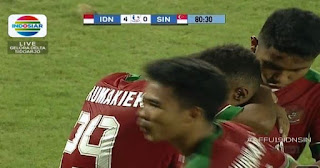 Indonesia Bantai Singapura 4-0 Piala AFF U-19 2018