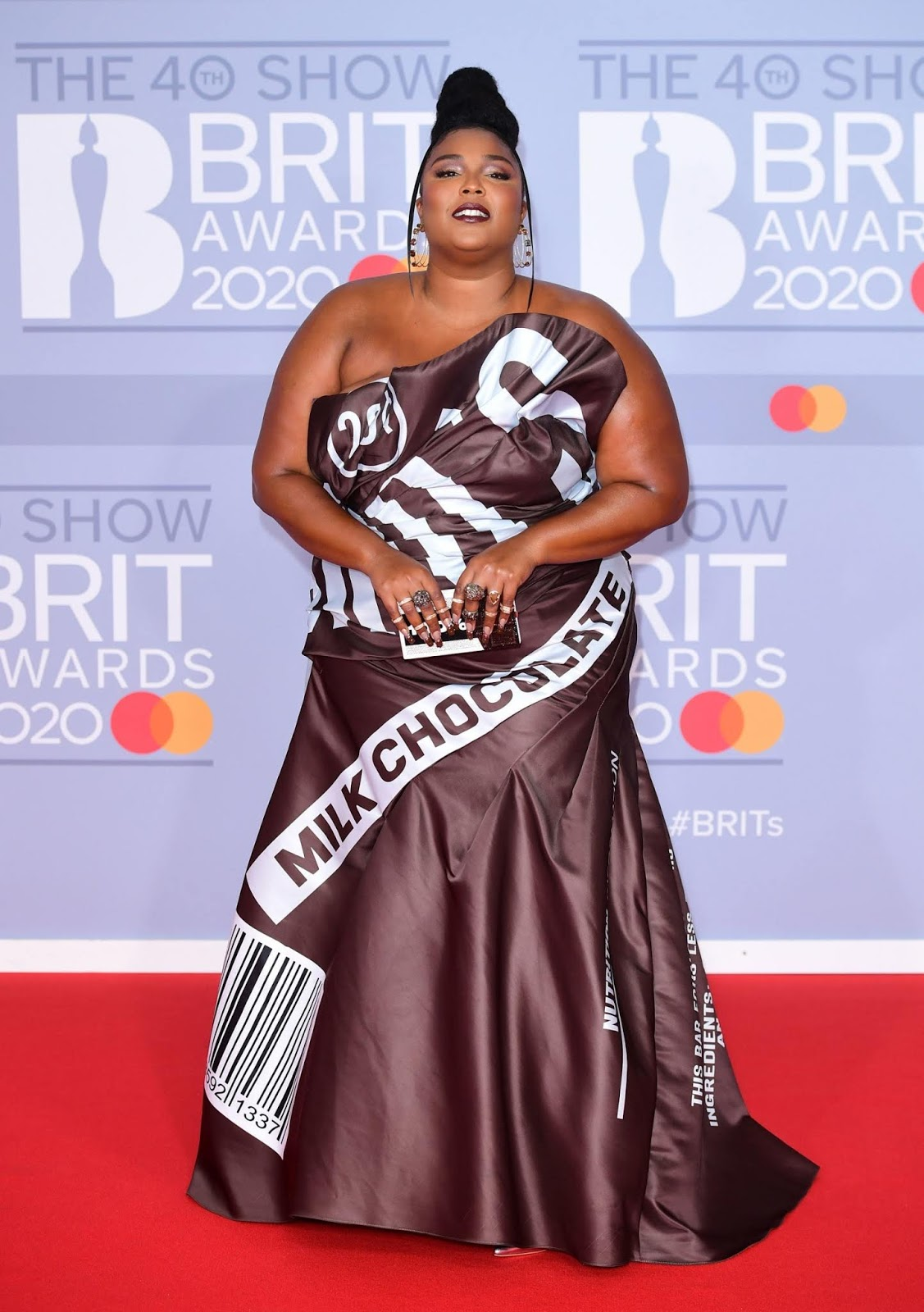 Lizzo is sweeter than chocolate with Hershey's inspired gown