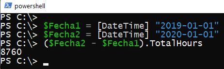Powershell: Diferencia entre fechas