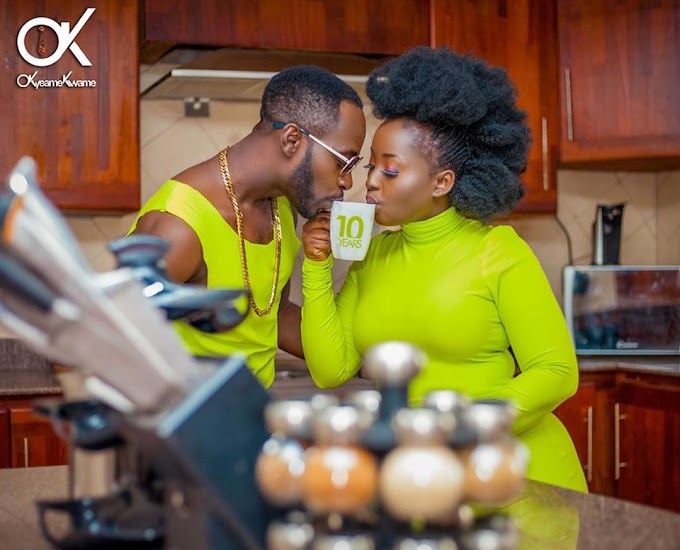 Okyeame Kwame and wife Annica mark 10 years as married pair