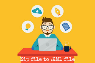Blog template download and upload k liye XML file mei transfer kaise kare