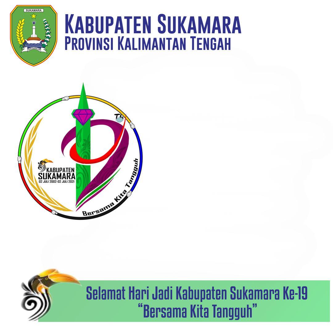 Link Template Frame Bingkai Twibbon Hari Ulang Tahun (HUT) ke-19 Kabupaten Sukamara 2021