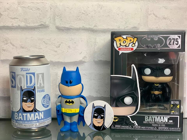 Batman Funko soda  can limited edition collectable figure and Pop! Heroes Vinyl figure