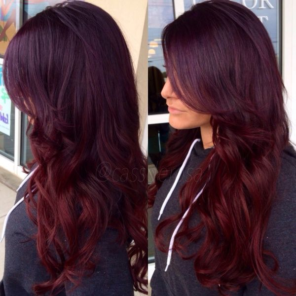 Burgundy Dark Red Hair Color for Dark or Olive Toned