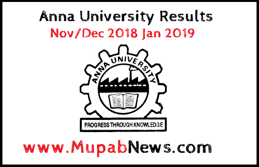 Anna University Results nov dec 2018 : Anna University Exam Result Nov Dec 2018 will be published in the 3rd week of January 2019. Anna University examination is conducted in the month of November and December 2018 by B.E/B.Tech/ME/MTech/MBA/MCA/BArch UG PG Students of all government and affiliated colleges all over tamilnadu. Hence by the Current latest updates of Anna University Result 2018 date is official released by the Controller of Examiner. Hence in this page, Anna University Engineering Students can download study materials like Notes, Syllabus, Time Table, Question bank, Important Question papers and Results. Stay Tuned with Mupab news #Anna University Results nov dec 2018 jan 2019.