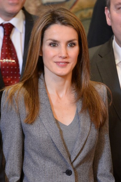 Princess Letizia attends several audiences at Zarzuela Palace in Madrid