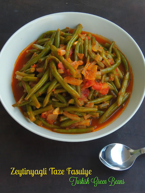 Zeytinyagli Taze Fasulye, Turkish Green Beans Stew