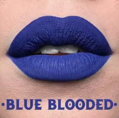kat von d Everlasting Liquid Lipstick lip swatch blue blooded