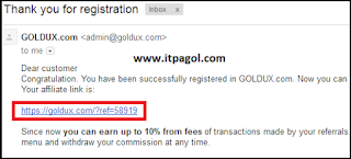 Goldux affiate link