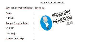 pakta integritas ppg 2018