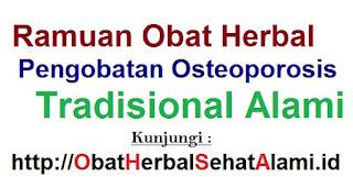 Ramuan obat herbal pengobatan osteoporosis-tradisional alami