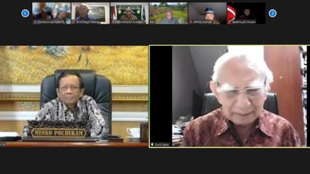 Mahfud MD Terima Kritik dari Tokoh Senior Terkait KPK, Penanganan Covid-19 hingga Ekonomi