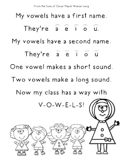 FREE Vowel Song to the tune of Oscar Mayer