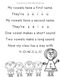 FREE Vowel Song