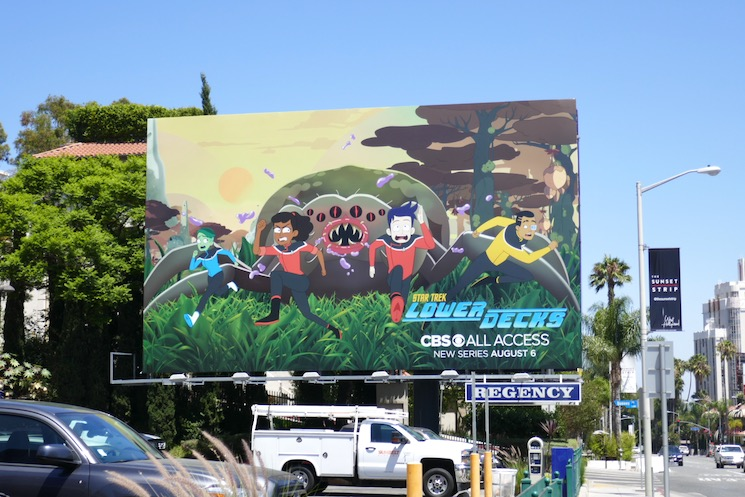 Star Trek Lower Decks series billboard