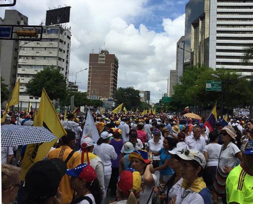 "AHORA: #Cobertura1S Así va la ""Toma de Caracas"""