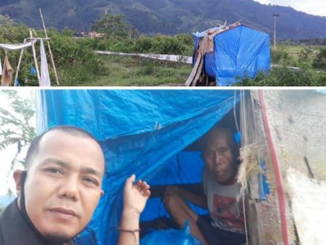 Kisah pilu kakek Tua yang Tinggal di Gubuk Terbuat Dari Terpal