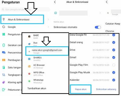 Menghapus Akun Google di HP Android