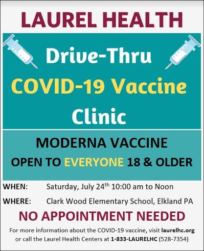 7-24 Drive Thru Covid 19 Vaccine Clinic
