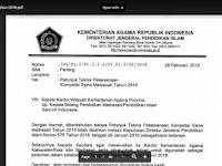 Juknis Pelaksanaan Kompetisi Sains Madrasah Tahun 2018