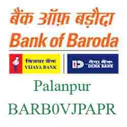 Vijaya Baroda Bank Palanpur Branch New IFSC, MICR