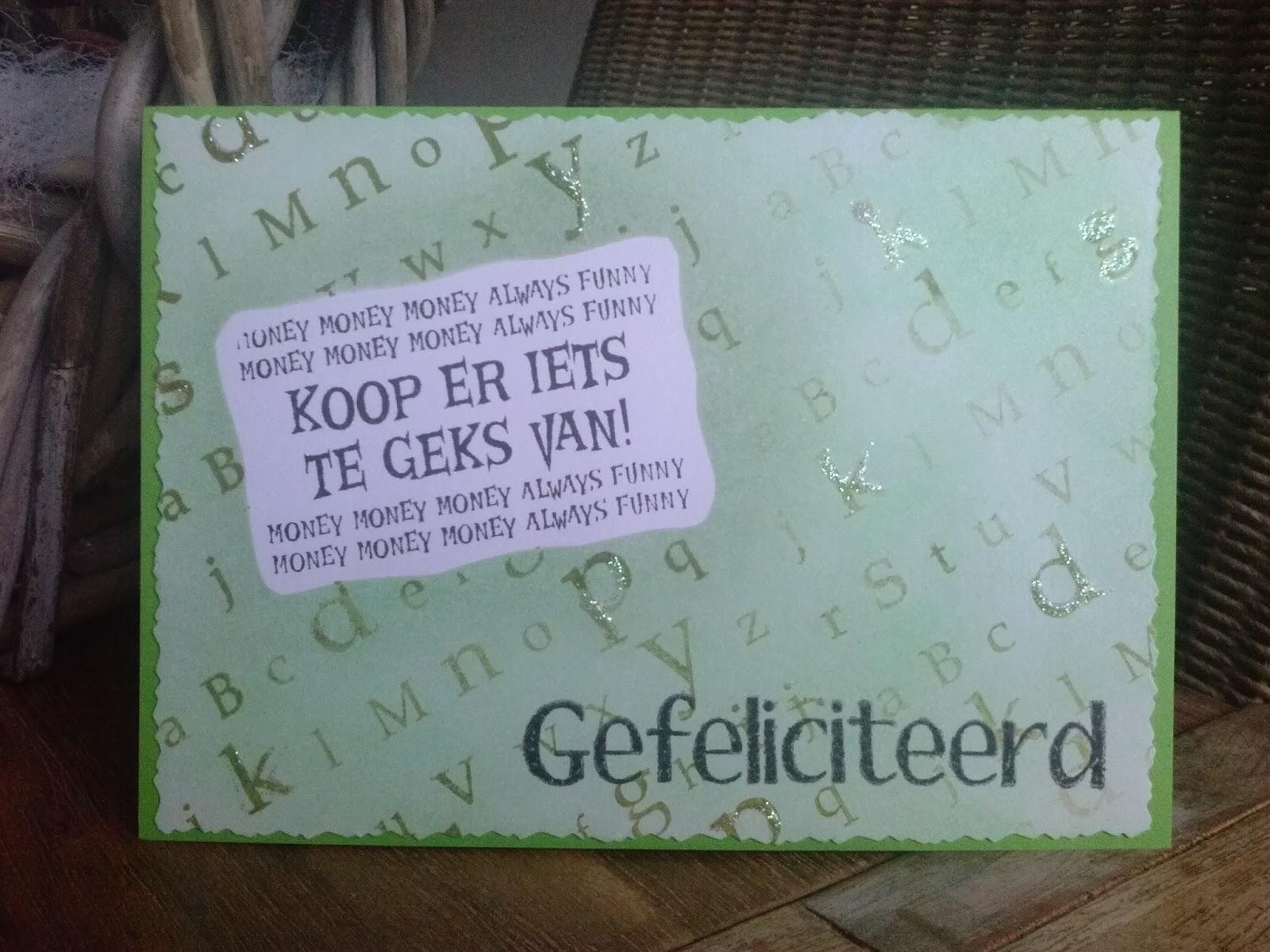 Crazy Cards Geld Cadeau Geven