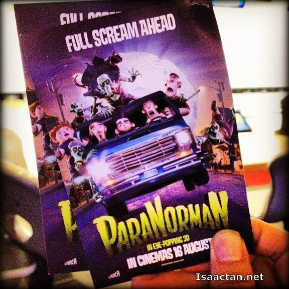 My Paranorman in 3D tickets