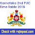 Karnataka 2nd PUC Time Table 2018 pdf www pue kar nic in Exam Date