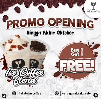 Promo Opening Warung  Makanku Halal Wine Coffee