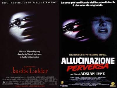 La locandina di ''Jacob's ladder'', in italiano ''Allucinazione perversa''