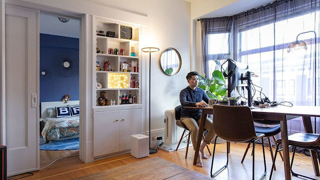 Think about creating a home office for your work