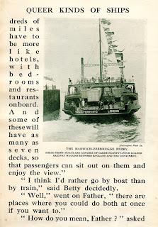 Harwich-Zeebrugge Train Ferry 1920s